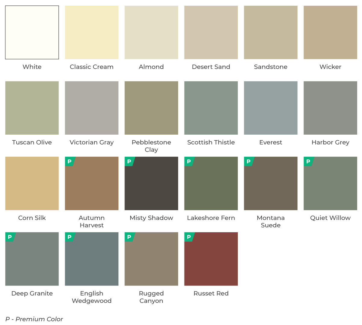 board vinyl siding color options