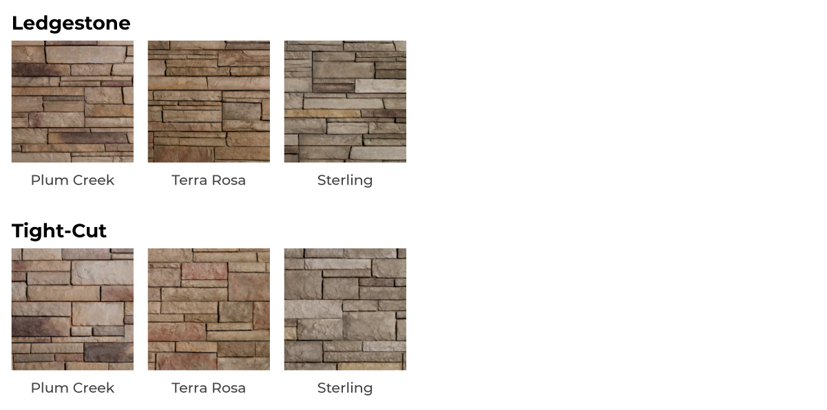 vinyl stone siding color options